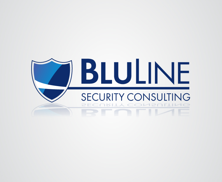 BluLine Security Consulting logo design