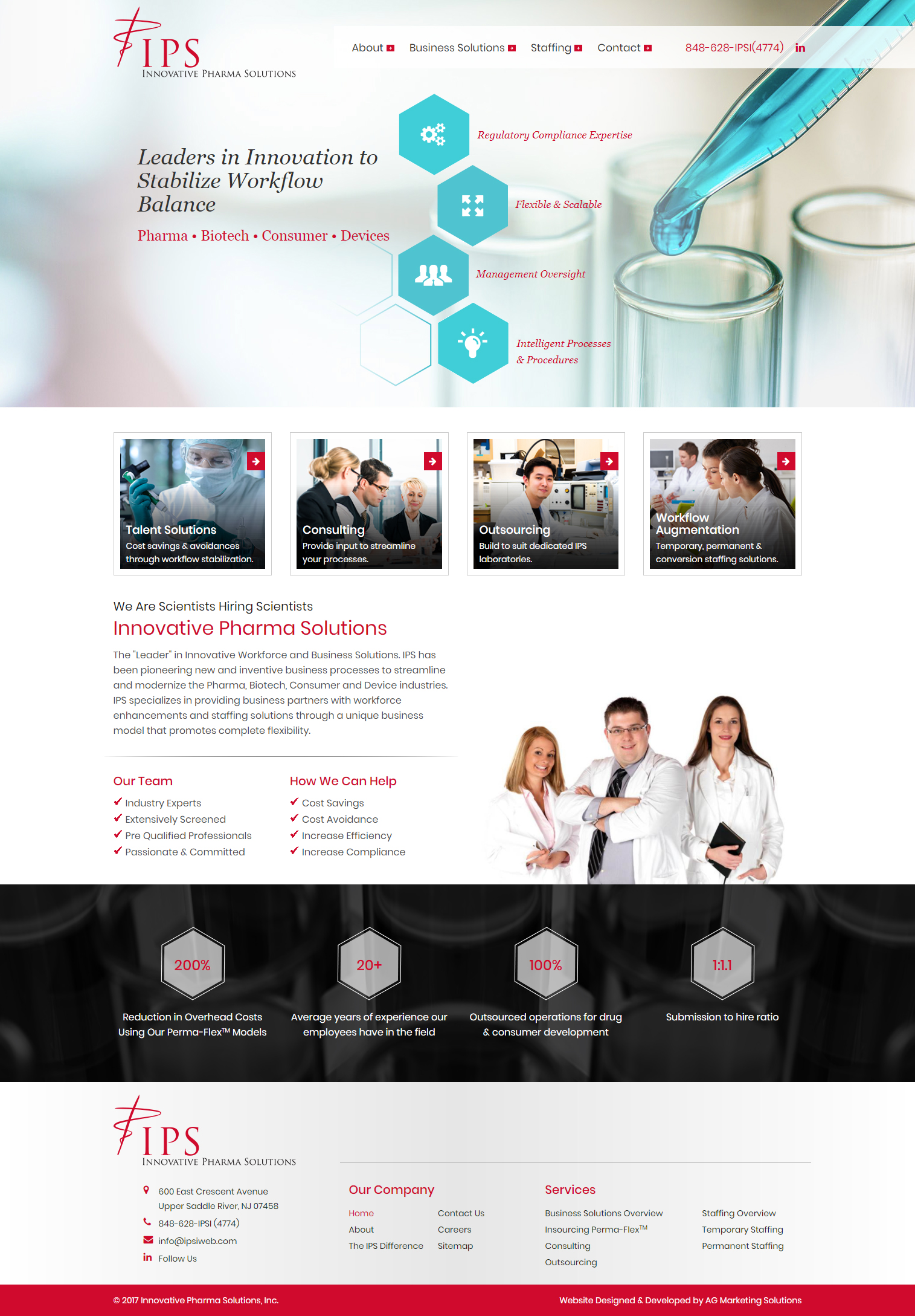Innovative Pharma Solutions responsive website on a Mac computer