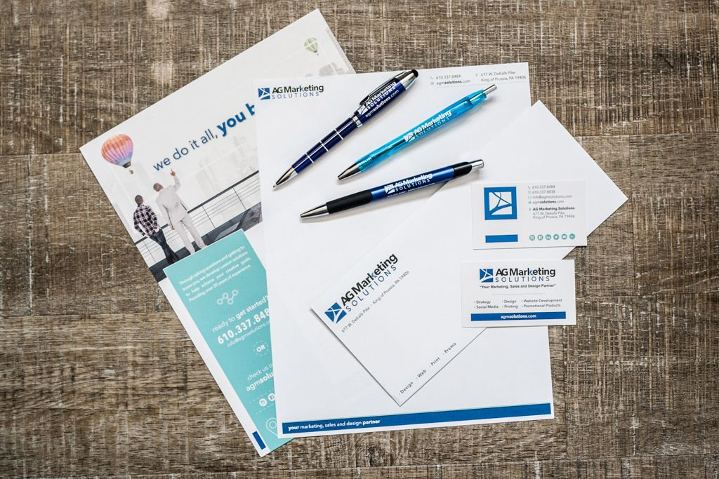 AG Marketing Solutions branded collateral