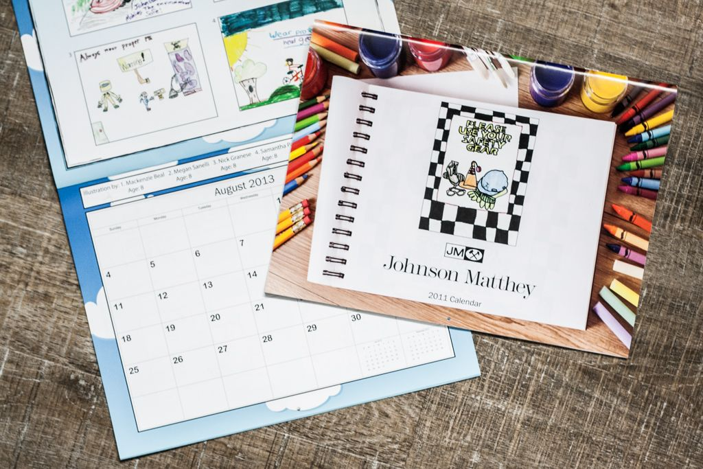 Johnson Matthey printed calendar
