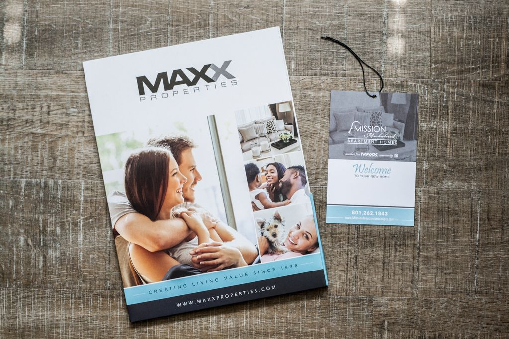 Maxx Properties printed collateral
