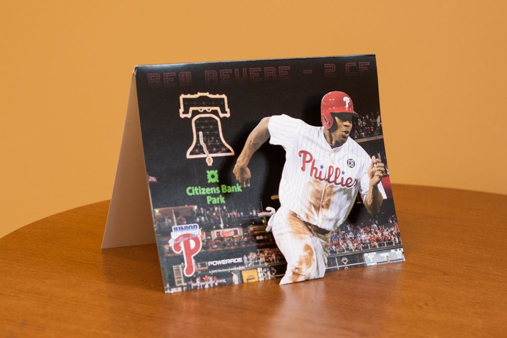 Philadelphia Phillies full color 3D popup marketing piece