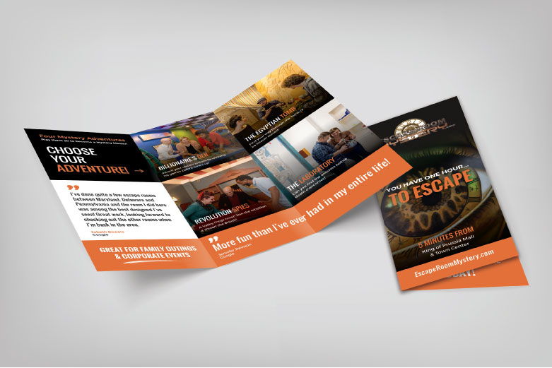 Escape Room Mystery Brochure
