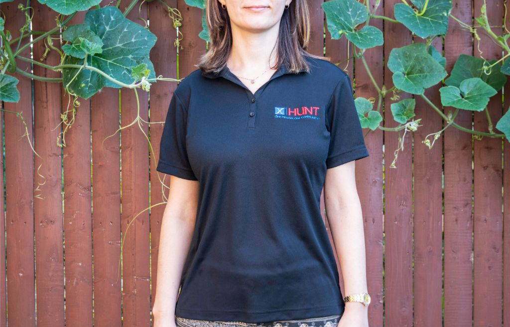 Hunt Military Communities polo shirt with embroidered logo
