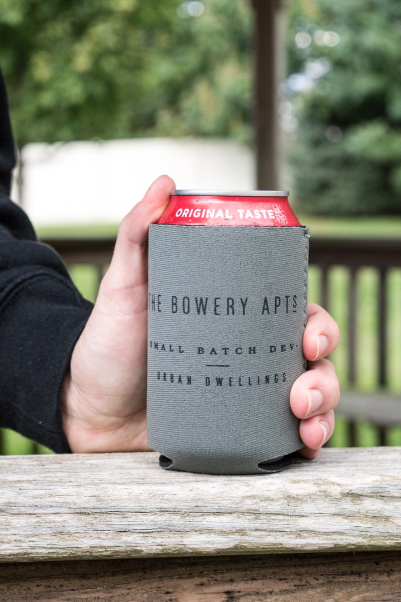 Custom beer koozie