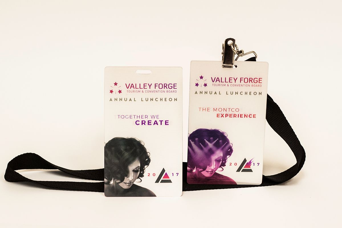 Valley Forge Tourism & Convention Board Lenticular ID Badges