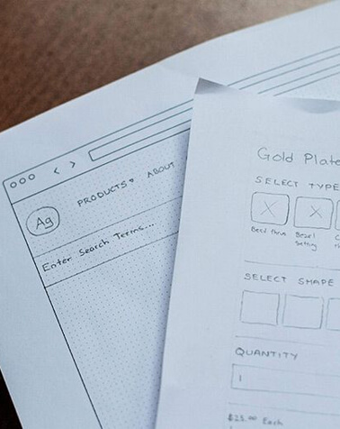 wireframes of future website designs
