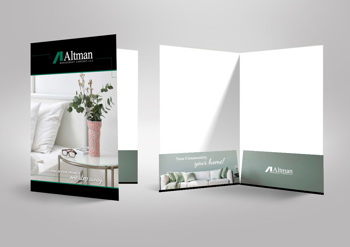 Altman Management Company printed folder